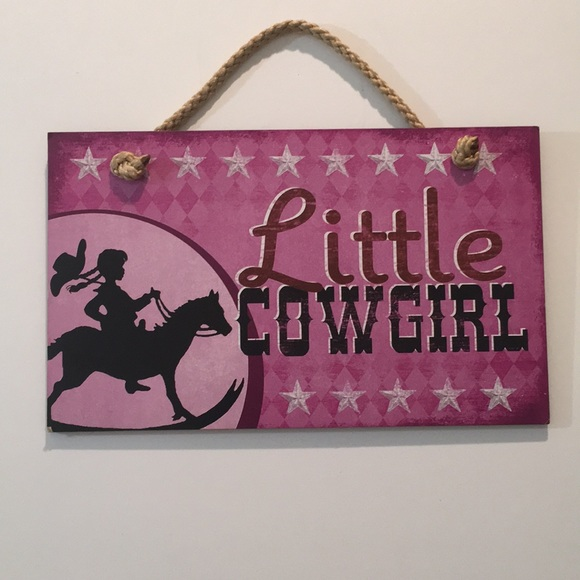 """Other - """"Little Cowgirl"""" Wall Decor"""